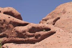 Desert Mountain Landscape with Cloudless Sky Stock Photos