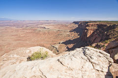 Desert Landscape View. Dry sandstone desert landscape of Utah Royalty Free Stock Photography