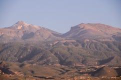 Desert Landscape in Volcan Teide National Park Royalty Free Stock Photo
