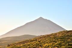 Desert Landscape in Volcan Teide National Park Stock Image