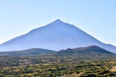 Desert Landscape in Volcan Teide National Park Royalty Free Stock Image