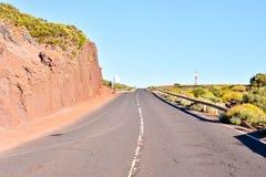 Desert Landscape in Volcan Teide National Park Stock Photography