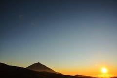 Desert Landscape in Volcan Teide National Park Royalty Free Stock Images