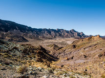 Desert landscape of Volcano Teide National Park Royalty Free Stock Image