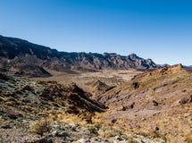 Desert landscape of Volcano Teide National Park. Tenerife, Canary Island. Spain Royalty Free Stock Image