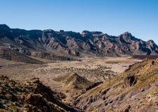 Desert landscape of Volcano Teide National Park. Tenerife, Canary Island. Spain Royalty Free Stock Photo