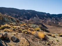 Desert landscape of Volcano Teide National Park. Tenerife, Canary Island. Spain Stock Photo