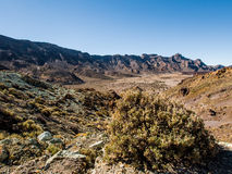 Desert landscape of Volcano Teide National Park Royalty Free Stock Photo