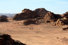 Desert landscape, Wadi Rum, Jordan Royalty Free Stock Photo