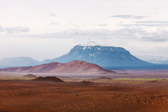 Desert landscape wiith mount Herdubreid, Iceland Royalty Free Stock Photography