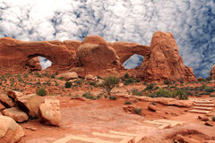 Desert Landscapes,Arches National Park Royalty Free Stock Photo