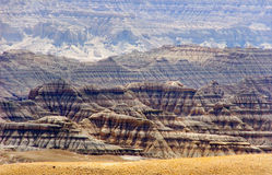 The desert landscapes and canyons Guge kingdom Royalty Free Stock Photos