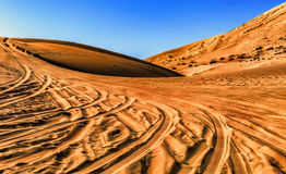 Desert. This is the largest Badain Jaran Desert in Inner Mongolia royalty free stock photo
