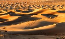 Desert. This is the largest Badain Jaran Desert in Inner Mongolia stock images