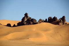 Desert in Libya Royalty Free Stock Images