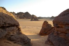 Desert in Libya Royalty Free Stock Photography
