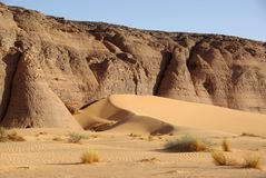Desert in Libya Stock Image