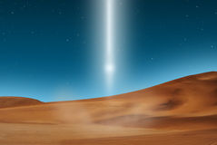 Desert lightbeam Royalty Free Stock Images