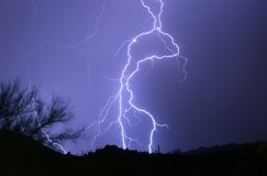 Desert Lightning stock photos