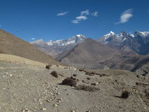 Desert like landscape near Kagbeni, Central Nepal Stock Photography