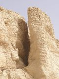 Desert limestone formation. Desert limestone rock formations in Karnak temple area, Egypt, Africa Royalty Free Stock Photos