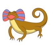 Desert lizard icon, cartoon style Royalty Free Stock Image