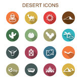 Desert long shadow icons Stock Image