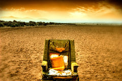 Desert lounge chair Royalty Free Stock Photography
