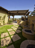 Desert mansion home back yard Royalty Free Stock Photo