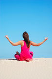 Desert meditation Royalty Free Stock Photography