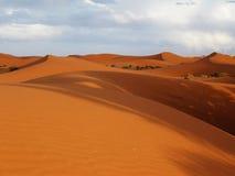 Desert at Merzouga. Eastern Morocco Stock Photos