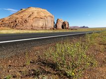 Desert mesa with road. Stock Images