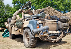 Desert military vehicle Stock Image