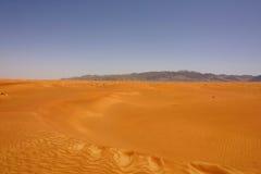 Desert Mirage. A desert scene in United Arab Emirates Royalty Free Stock Photos