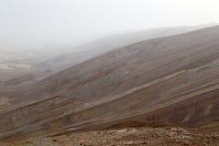 Desert mist. Mist covering Arava desert mountains Stock Photos