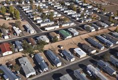 Desert Mobile Homes Royalty Free Stock Images