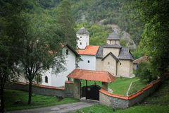Desert Monastery in Serbia stock photography