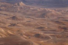 Desert moon-alike landscape near Masada Royalty Free Stock Images