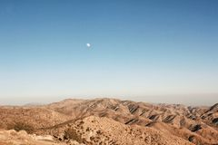 Desert Moon Royalty Free Stock Images