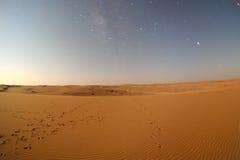 Desert in the moonlight Stock Photos