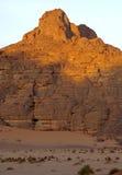 Desert morning. Mornign light in the Acacus Mountains, Libya Stock Photos