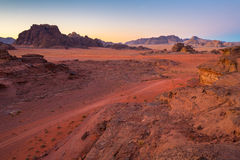 Desert in a morning Stock Photography