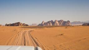 The desert at morning - Jordan royalty free stock images