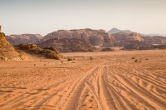 The desert at morning royalty free stock photography
