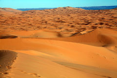 Desert in Morocco1. Big dunes in the desert of Morocco Stock Images
