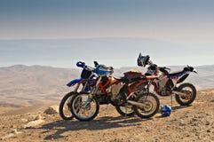 Desert motorcycles royalty free stock photo