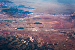 The desert mountain aerial view Stock Images