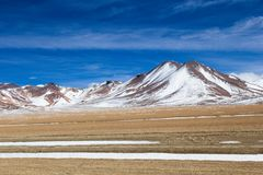 Desert and mountain on Altiplano,Bolivia Stock Image