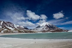 Desert and mountain on Altiplano,Bolivia Royalty Free Stock Photos