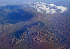 Desert Mountain Clouds Aerial View Royalty Free Stock Image